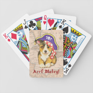 Walisercorgi-Pirat Bicycle Spielkarten