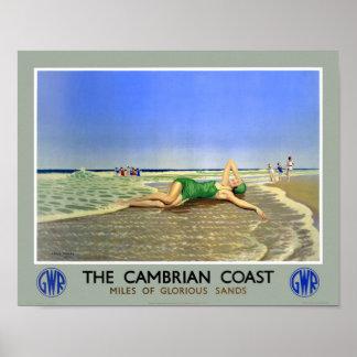 Walisische Küsten-Vintages Reise-Plakat Englands Poster