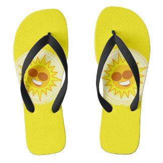 Walkin auf Sonnenschein drehen Sie Reinfälle um Flip Flops