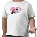 WALL-E und Eve-Pixel-Herz T Shirt