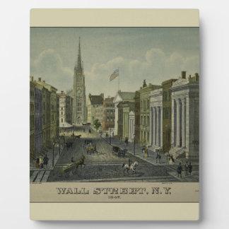 Wall Street 1847 Fotoplatte