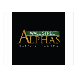 Wall Street-Alpha-Speicher Postkarte