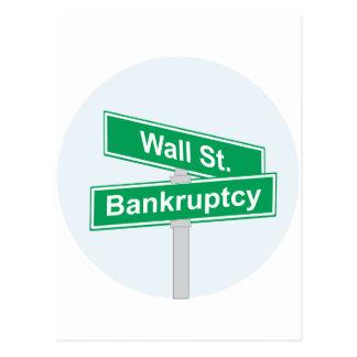 Wall Street Konkurs - Occupy Wall Street-Zeichen Postkarte