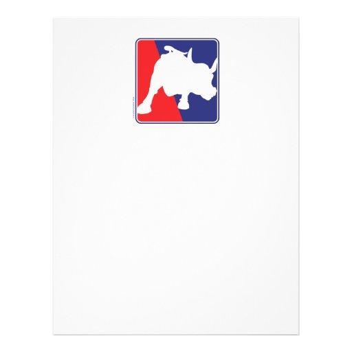 Wall Street-roter weißer und blauer Stier Personalisierte Flyer