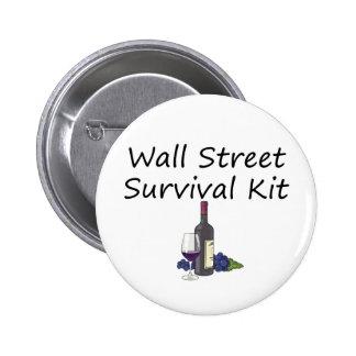 Wall Street-Überlebensausrüstungs-Wein-Flaschengla Runder Button 5,7 Cm