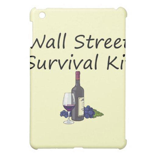 Wall Street-Überlebensausrüstungs-Wein Ipad Fall iPad Mini Hüllen