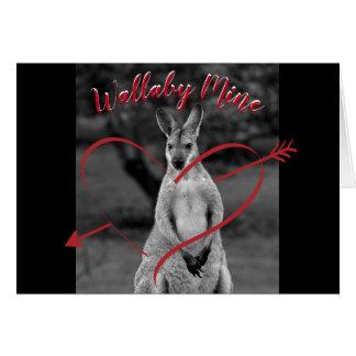 Wallaby Mine Heart Valentine's Day Australia Card Karte