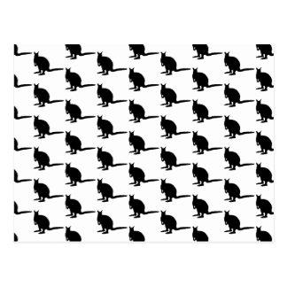 Wallaby-Muster. Schwarzweiss. Postkarte