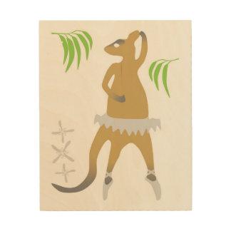 Wallabyballett-Wandkunst Holzwanddeko