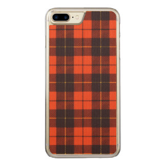 Wallis-Clan karierter schottischer Tartan Carved iPhone 8 Plus/7 Plus Hülle