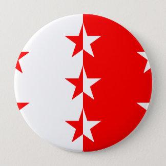 Wallis, die Schweiz Runder Button 10,2 Cm