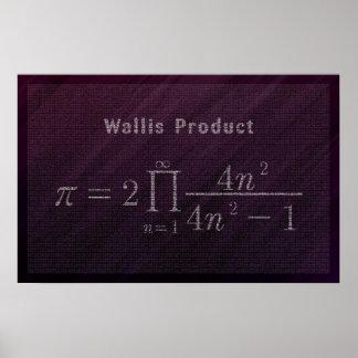 Wallis PU-Formel - Mathe-Plakat Poster