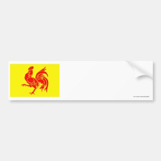 Wallonische Regions-Flagge Auto Sticker