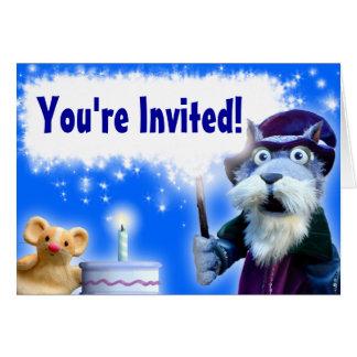 Walnuss die Zauberer-Geburtstags-Einladung Karte