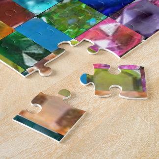 Walnuss-hölzerne leere Schablone DIY addieren Puzzle