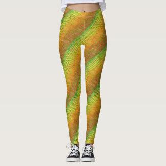 Walpi Limones Grün und Rost Leggings