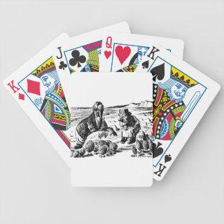 Walroß, Carpeter und Austern Bicycle Spielkarten