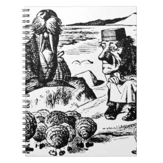Walroß, Carpeter und Austern Spiral Notizblock