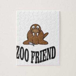 Walross-Zoofreund Puzzle