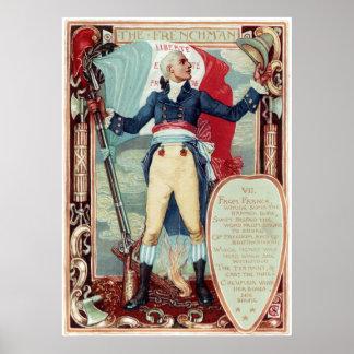 Walter-Kran-Kolumbiens Umwerbung der Franzose Poster