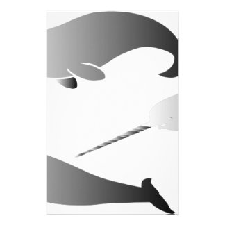 Walwale narwal narwhale Einhornsporttauchen Briefpapier
