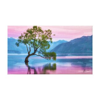 Wanaka Baum Neuseeland Leinwanddruck