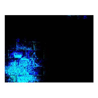Wand-Bild im Blau und im Schwarzen. Digital Art. Postkarte