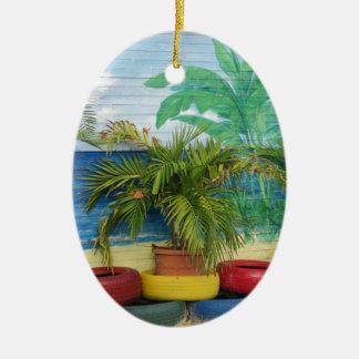 """Wand der Farben """"St. Maarten """" Keramik Ornament"""