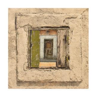 Wand, Fenster und Tür Holzwanddeko