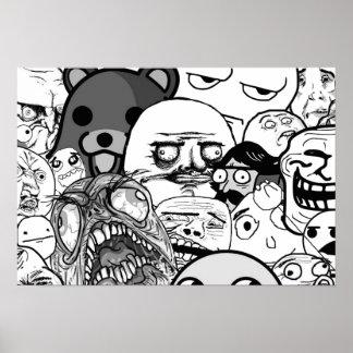 Wand-Kunst   die Trollface Sammlung (1/3) Poster