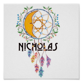 Wand-Kunst Nicholas Dreamcatcher Poster