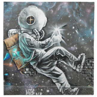 Wand-Kunst-Wandmalerei-Graffiti Stoffserviette