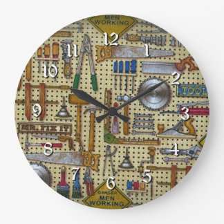 Wand-runde Uhr Herr-Fix It Handyman Tools