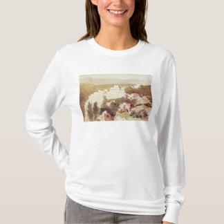 Wände von altem Samos, Cephalonia, 19. Jahrhundert T-Shirt
