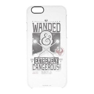 Wanded u. extrem gefährliches gewolltes Plakat - Durchsichtige iPhone 6/6S Hülle