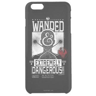 Wanded u. extrem gefährliches gewolltes Plakat - Durchsichtige iPhone 6 Plus Hülle