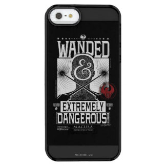 Wanded u. extrem gefährliches gewolltes Plakat - Durchsichtige iPhone SE/5/5s Hülle
