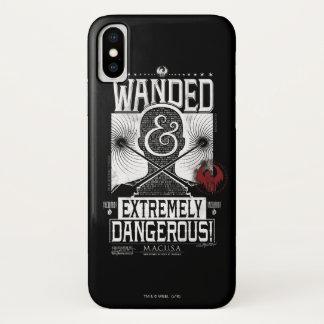 Wanded u. extrem gefährliches gewolltes Plakat - iPhone X Hülle