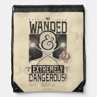 Wanded u. extrem gefährliches gewolltes Plakat - Sportbeutel
