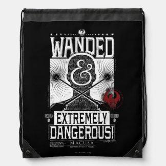 Wanded u. extrem gefährliches gewolltes Plakat - Turnbeutel