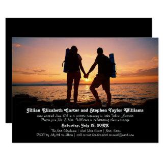 Wanderer-Foto - Mitteilung der Hochzeits-3x5 8,9 X 12,7 Cm Einladungskarte
