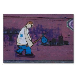 Wanderer-Graffiti Karte