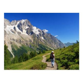 Wanderer im Frettchen-Tal, Italien Postkarte