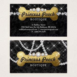 Wanderer-Knochen-Gold Prinzessin-Pooch Dog Care Visitenkarte