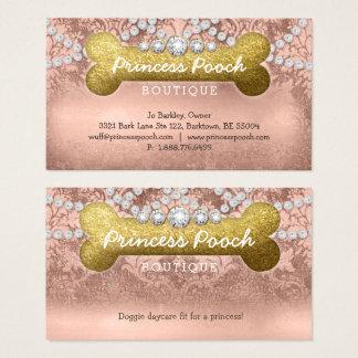 Wanderer-Knochen-Rosen-Gold Prinzessin-Pooch Dog Visitenkarte