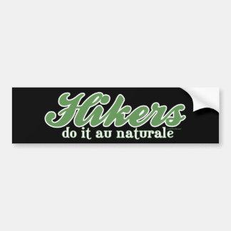 Wanderer tun es Au Naturale Autosticker