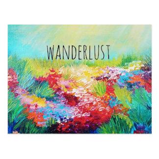 WANDERLUST abstrakte Postkarte