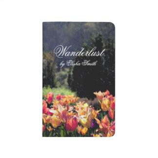 Wanderlust-Aquarell-Tulpen Taschennotizbuch