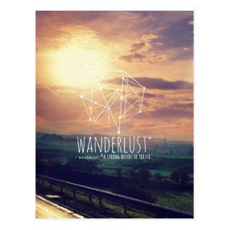 Wanderlust (Hügel): Postkarte (vertikal)