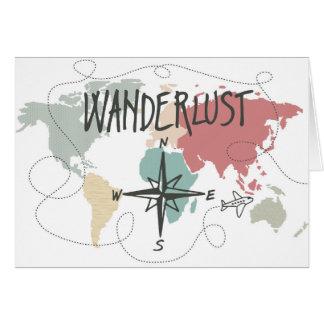 Wanderlust Karte
